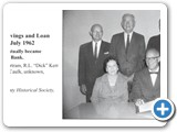 Taylor County Federal Savings and Loan Board of Directors, July 1962