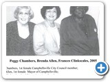 Peggy Chambers, Brenda Allen, Frances Clinkscales 2005