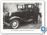 W.T. McGlocklin shown with a 1930 Model A Ford